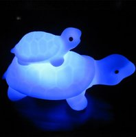 Wholesale Unique Design LED Child and Mother Tortoise Turtle LED color Changing Flash Lamp Night Light