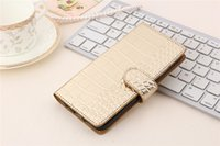Wholesale nexus cases genuine leather resale online - 50pcs Fashion Crocodile Pattern Genuine Leather Phone Cases for iphone plus inch htc Nexus Marlin Cell Phone Case with