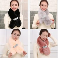 Plain Winter Fake Fur Faux Fur Wrap Collar Cute Infinity Scarf for Girls Quattro colori One Piece Sell