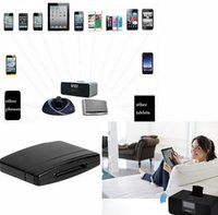 Wholesale Docking Speaker For Ipad - Bluetooth A2DP Music Audio 30 Pin Receiver Adapter for iPod iPhone iPad Speaker Dock Audio Music Receiver Black Wholesale