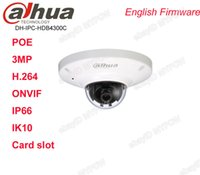 Wholesale Mini Wired Infrared Camera - Dahua IPC-HDB4300C 3MP HD Waterproof IP66 Network Dome Mini Camera POE