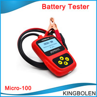 Wholesale Toyota Japanese Wholesale - DHL Free Shipping MICRO-100 Multi-language Automotive Battery System Tester tool for 12V 100% original micro 100 free shipping
