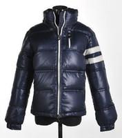 melhores jaquetas de inverno da marca venda por atacado-Marca de moda Homem De Inverno Para Baixo Jaqueta Melhor Qualidade Quente Plus Size Homens Jaquetas Para Baixo e Parka Casaco Branco Venda Barato