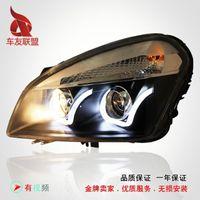 Wholesale Eyes Bi Xenon - Nissan Qashqai Longding headlight performance lamp bifocal lens U angel eyes LED Bi xenon headlight assembly