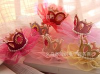 Wholesale Princess Hair Products - New !!! Pet Accessories Pet Product Dog Supplies Crown Lace Princess Stereoscopic Lace Dog Headdress Flower Hair Clips 10 PCS