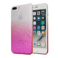 caixa do telefone do mosaico venda por atacado-Para iphone x iphone 8 plus padrão de mosaico case para samsung galaxy note 8 gradiente cor pc phone case b