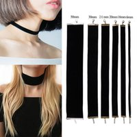 Wholesale Silver S Choker Necklace - New Fashion Retro 90's Black Velvet Choker Necklace Goth Gothic Handmade Vintage Burlesque Jewelry For Women