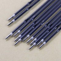 Wholesale Refill Stationary - 100pcs lot 0.7mm Ballpoint Pen Refill Suitable for Retractable Pen Black BlueRed ink High Quality Writing Pen Refills Stationary Papelaria