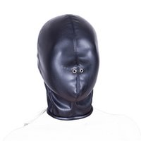 Wholesale Sex Games For Sale - 2016 Hot Sale Soft PU Leather Mask Hood Bondage Blindfold Sex Toys For Couple Adult Games Fantasy Sex Cosplay Slave Set
