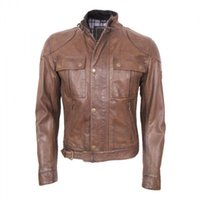 Wholesale Concise outdoor cycling leather jackets Men winter favourite jackets customerized body shape fine hardware You buy I gurantee