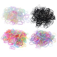 4000pcs / pack Rubber Rope Ponytail Holder Elastic Hair Bands Cravates Braiders Tresses Hair Clip Headband Outils de coiffure