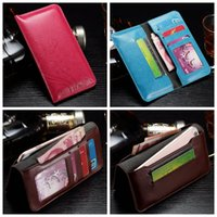 Wholesale Crazy Flowers - Universal Flower Crazy Horse PU Leather For Iphone 7 6 6S Plus 5 5S Galaxy S7 Edge S6 Edge Wallet Credit Flip Cover Pouch Card Pouch Cover