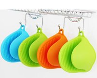 Wholesale Pot Gripper - Kitchen Dishes Silicone Oven Heat Insulated Finger Glove Mitt Cute Cooking Microwave Non-slip Hot Isolation Gripper Pot Holder