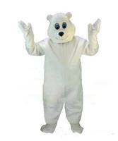 Wholesale Happy Bear Mascot - Happy Polar Mascot Hot Sale Adult Size Animal Theme White Bear Mascotte Mascota Outfit Suit Fancy Dress Cosply Costumes