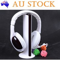 Wholesale Cordless Pc Headset - Hot Sale 5 in 1 Wireless Headphones Watch Tv Earphone Cordless Headset for MP3 PC Stereo TV FM iPod