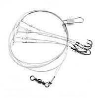 cordes de crochets achat en gros de-Sharphook avec 5 petits crochets Corde de pêche en acier inoxydable crochet de pêche Livraison gratuite