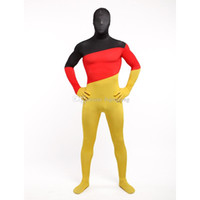 Unisex German Flag Lycra Spandex Cool Multicolor Zentai Suits