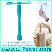 Wholesale Mini Usb Powered Fridge - USB Fan Gadgets Flexible USB Portable Mini Fan fridge cooler For Xiaomi Power Bank Notebook Laptop Computer Power-saving