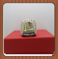 Wholesale Custom Sports Rings - Factory Price For 2015 Warriors Curry Basketball Alloy Silver Plated World Championship Ring Custom Sports Replica Jewelry For Fans