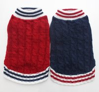 mädchen hund pullover großhandel-Junge / Mädchen Hund Katze Knited Pullover Jumper Pet Puppy Coat Jacke warme Kleidung Kleid 5 Größe