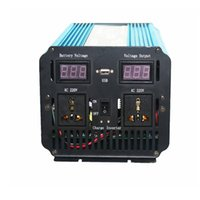 1500W Peak 3000W 12VDC TO 220VAC display led Inverter a onda sinusoidale pura + Caricabatterie UPS