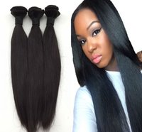 Wholesale russian hair weave resale online - 12A Brazilian Hair Straight Human Hair Weave Peruvian Malaysian Indian Bundles Unprocessed Remy hair Wave
