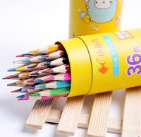 Wholesale 12 Color Student Stationery With Colored Pencil Art Colored Pencils Drawing Pencils Wood Pencils for Secret Garden Artist Sketch AG