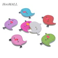 Wholesale Cute Sewing Patterns - Hoomall 50PCs Mixed Wooden Buttons Cute Bird Pattern Decorative Buttons 2 Holes Sewing Accessories Craft DIY Scrapbooking order<$18no track