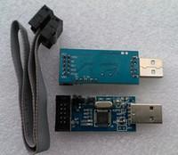Wholesale Usbasp Isp Programmer - Wholesale-1pcs New USBASP USBISP AVR Programmer USB ISP USB ASP ATMEGA8 ATMEGA128 Support Win7 64K