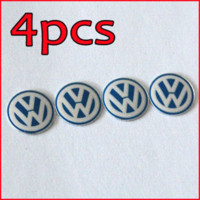 Wholesale Volkswagen Key Fobs - Freeshipping 4PCS 14mm Remote Key Fob Logo Badge Emblem For Volkswagen VW Jetta Golf Passat M17770