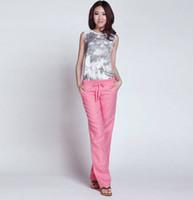 Distributors of Discount Womens Linen Pants | 2017 Red Linen Pants ...