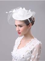 Wholesale Vintage Lace Headdress - Wedding Bridal Hats 2017 New Vintage Handmade Gauze Lace Flower Elegant Romantic Headdress Marrige Wedding Accessories