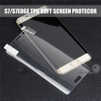 Wholesale tpu screen protector - Cover Curved Screen Protector For Iphone X S8 Note 8 S7edge S6edge Samsung Galaxy Seris Full Coverage Clear Soft TPU Screen Protector Film