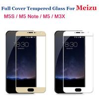 ingrosso schermo m6-Vetro temperato Full Cover Premium per Meizu M5S M5C M5 M6 M3 Note M3S Pro 6 7 Pellicola protettiva per vetro temperato Screen Protector