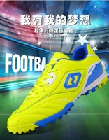 Wholesale Spike School - Football shoes Soccer shoes Broken nail Adult male and Female Students in elementary Middle school students Train Bottom Genuine Leather Hot