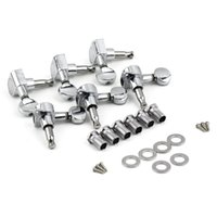 Wholesale Tuning Machines Strings - 6R Right 6L Left 3L+3R String Tuning Pegs Tuners Tuner Chrome Inline Guitar Machine Head 6R Right est