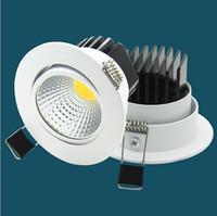 12w conduziu downlights de fixação venda por atacado-Dimmable levou downlights COB embutidos luminárias Led de superfície fina montaram holofotes de alumínio fundido 5W 7W 9W 12W