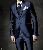 en iyi yeni varış ceketi toptan satış-Açık Gri Suit Lavanta Yelek ve Tie Damat smokin Notch Yaka Best Man Groomsmen Erkekler Düğün Damat (Ceket + Pantolon + Kravat + Vest) H978 Takımları