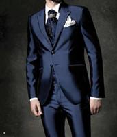 ingrosso tuxedos di champagne-Light Grey Suit Vest lavanda e cravatta dello sposo smoking Notch Lapel Best Man Groomsmen Uomini Wedding Abiti sposo (Jacket + Pants + Tie + Vest) H978
