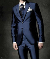 Wholesale gray wool vest resale online - New Arrival Groom Tuxedos Groomsmen Styles Best Man Suit Bridegroom Wedding Prom Dinner Suits Jacket Pants Tie Vest H978