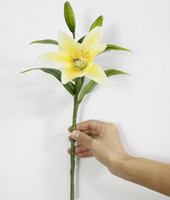 Wholesale DIY vivid Real Touch Artificial Flower Lily Bridal Flower Fake plant for Wedding Home Party Decoration Colors