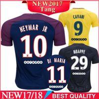 e5b462404 Soccer Men Short Thai quality 2017 2018 PSG Home soccer jerseys DANI ALVES  MBAPPE NEYMAR JR