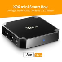 Wholesale Android Logos - 2018 s905w Smart TV Box KD Fully Loaded X96 mini 2GB 16GB With Android 7.1 OS WiFi Lan Internet 4K Free Movies Custom Box Logo