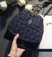 Wholesale Backpack Felt - 2018 new arrived Knitted material backpack Fashion luxury brand for womens backpack Fashion backpack Mountaineering single-shoulder bag
