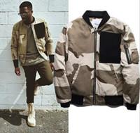 patchs armée vintage achat en gros de-Mode Armée camouflage Combat Veste Mode Hiphop streetwear poche Survêtement Taille S ~ 2XL Vintage Militaire Patch Designs Manteau chaud