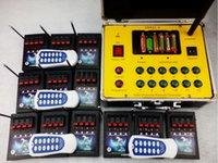 kablosuz uzak 433mhz toptan satış-ateşleme sistemli Kablosuz aşama 48 ipuçları Akıllı uzaktan telsiz yangın Çift anahtar 433mhz CE geçti yılbaşı hediyesi elektrik teli havai fişek