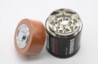 molinillo de tabaco de batería al por mayor-Batería estilo 60 * 42 mm 3 piezas de aleación de zinc molinillo de hierba para fumar tabaco a base de hierbas para fumar molinillos accesorios para fumar al por mayor