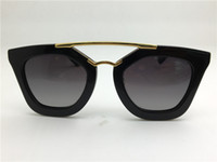 Wholesale orange man coat - New spr sunglasses 09Q cinema sunglasses coating mirror lens polarized lens vintage retro style square frame gold middle women designer