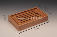 Wholesale Tray For Tea - Wholesale-HOT! STARS bamboo tea tray kung fu tea tools for cup and teapot crafts tray solid bamboo tea sets free shipping