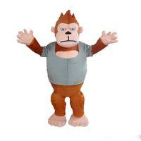 Wholesale Gorilla Adult Costume Mascot - Hot animal Gorilla Furry Polar Cartoon Mascot Costume Party Fancy Dress Adult Size Free Shipping Big High Quality